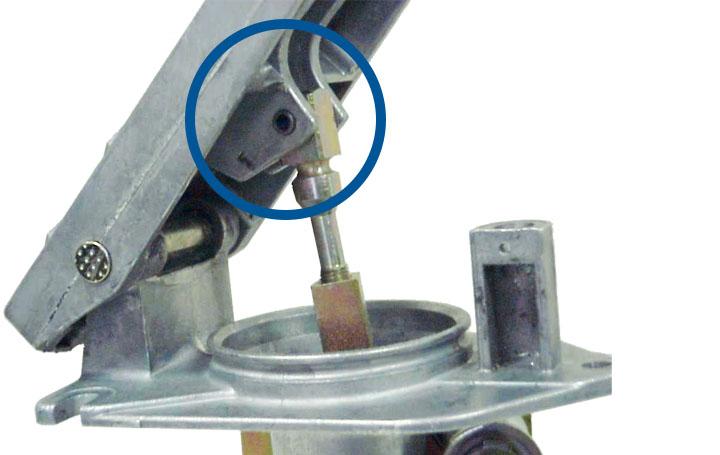app coiled pin hydraulic break treadle