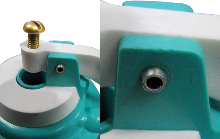 app coiled pin toilet fill valve close up
