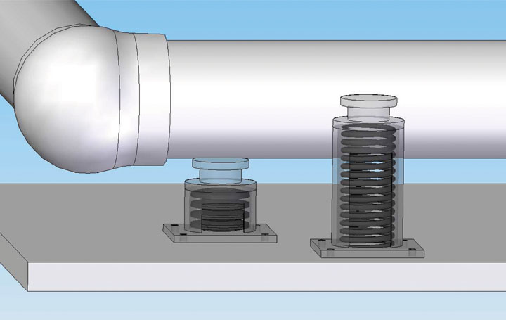 app disc springs pipe support