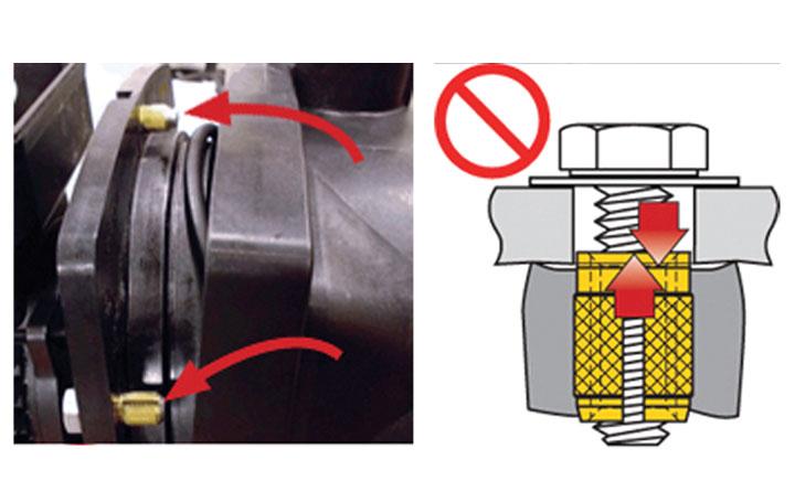 app inserts compression limiters plastic filter pump problem