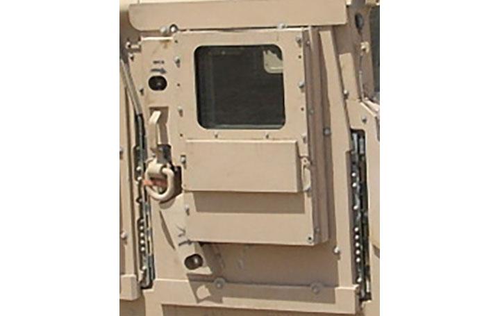 app shim armored vehicle close up