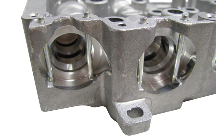 app solid pin transmission valve body close up