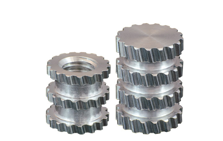 molded-in inserts