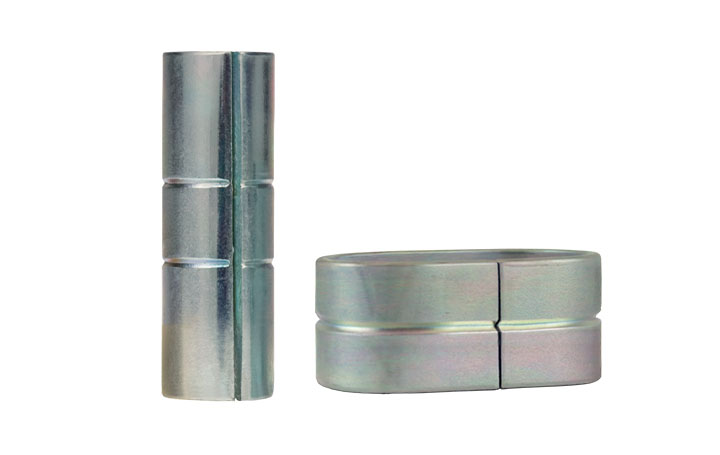 molded-in compression limiters