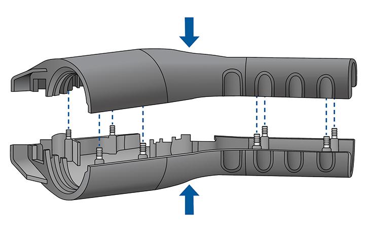 Press-N-Lok™ Pins in Electric Vehicle Charging Handle