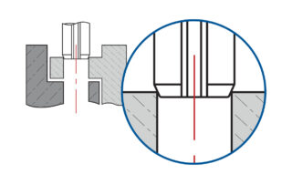 standard slotted pin vs iso